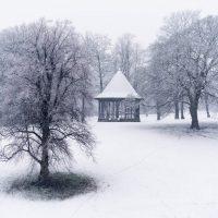 Snowscene at Brough Park by Jason Bould