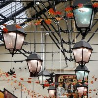Butter Market lanterns by Peter Buck